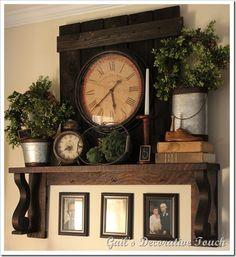 vintage mantel shelf