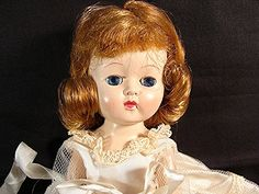 Vintage 1950s Doll GINGER Bride Doll hard plastic by Cosmopolitan Ginger Doll Moving Head Legs. $65.00, via Etsy.