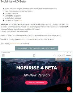 http://mobirise.com/mobirise4beta-win.zip - DOWNLOAD v4.0.8 FOR WINDOWS 64Bits (71Mb)