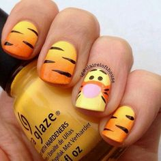 A Cute Tiger Nail Art ❤️ Simple and easy acrylic or gel Disney nails design ideas to wake up your inner princess. ❤️ See more: naildesignsjourna… – nageldesign. Nail Art Disney, Disney Acrylic Nails, Best Acrylic Nails, Disney Toe Nails, Disney Manicure, Nail Art Designs, Disney Nail Designs, Nails Design, Cartoon Nail Designs
