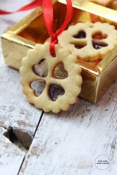 Stained Glass Cookies | Christmas Cookies | Christmas Edible Gifts | Edible Christmas Tree Decorators