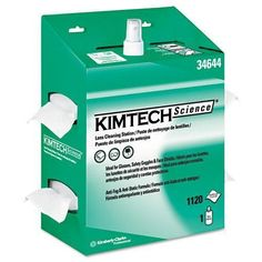 Kimtech Science Kimwipes 4.5-inch x 8.5-inch Pop-Up White Lens Cleaning Station