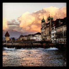 Luzern, switzerland, This is where I lived and studied Art and Design...How I loved it here!