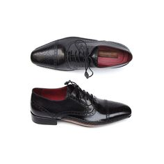 Paul Parkman Men's Captoe Oxfords Black Shoes
