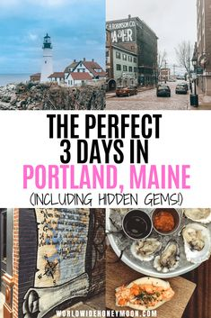 The best things to do in Portland Maine | 3 Days in Portland Maine | Portland Maine Travel Guide | Portland Maine Travel Tips | Portland Maine Restaurants | Portland Maine Itinerary | Portland Maine Photography | Portland Maine Packing List #portlandmaine #mainetravel #portlandtravel #usatravel #couplestravel Cool Places To Visit, Places To Go, Places To Travel, Portland Maine Restaurants, Weekend In Portland, Visit Portland, Travel Usa, Travel Tips, Travel Guides