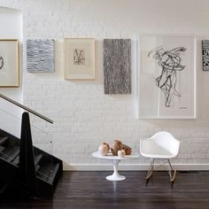 align artwork at top of frame // studio art