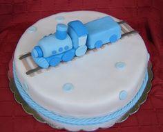 Fondant Figurines Train Cake.  Baby Shower or Birthday.