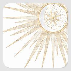 Sun And Moon Mandala, Sun Moon, Stars And Moon, Sun Rays, Moon Wedding, Celestial Wedding, Tapestry Curtains, Sun Illustration, Hip Tattoos Women