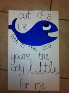 Make it a dolphin and post it on your littles door!