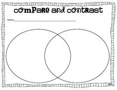 Printables Compare And Contrast Worksheets 2nd Grade backgrounds sunday school and plants on pinterest compare contrast graphic organizers to use with any books