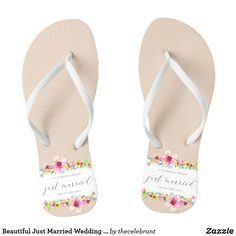 959321121 31 Best Just Married Flip Flops   Wedding Flip Flops images