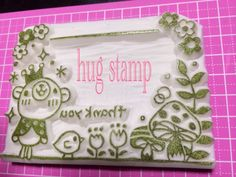 Tsu Anything-You-Want G! Bear prince! Even in the message frame to address frame! Eraser Hanko Rubber Stamp