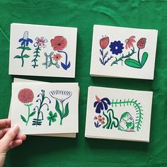 The sun came out! These mini floral #risograph prints are done! Come pick one up and say hi to Erik and I at the Montrose Print Market TODAY from 2-7pm at Saint Arnold Brewing Company! 🌞 We will also have ferment zines, Texas flora posters, @houstonhistories, and a brand new Houston beer map!