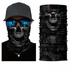 Multi-used Neck Gaiter Fishing Scarf Headwear UV Face Shield Sun Mask Skull Skull Scarf, Skull Mask, Skull Head, Head Bandana, Joker Clown, Motorcycle Face Mask, V For Vendetta, Anti Uv, Tube Scarf