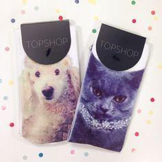 私たちの#toppets靴下競争の超キュートな勝者に挨拶! オンライン購入可。 アイテムコード:08N06GCRM + 08N05GGRY #topshop #topshopsocks #topshophq #socks #dogs #cats #pets #competition #winner