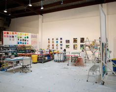 Oversized art studio for artist Kristin Baker ... what a great space in which to make art!