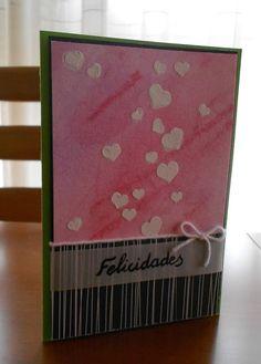 Happy birthday card. Lots of hearts