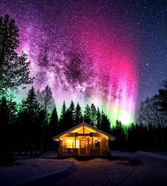 """lori-rocks: """"Milky way and Aurora's….by mtl photography """""""