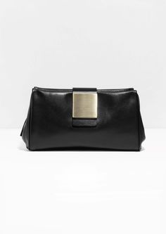 & Other Stories | Square Detail Leather Clutch