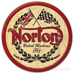 Norton Logo Sign is a brand new vintage tin sign made to look vintage, old, antique, retro. Purchase your vintage tin sign from the Vintage Sign Shack and save. Moto Norton, Norton Motorcycle, Motorcycle Logo, Motorcycle Posters, Bike Logo, Motorcycle Types, Motorcycle Garage, British Motorcycles, Vintage Posters