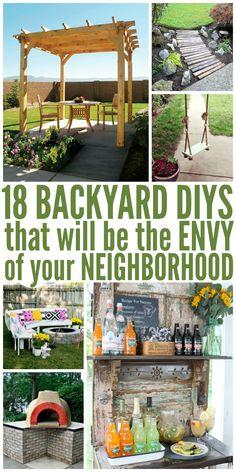 18 Backyard DIYs That Are the Envy of Your Neighborhood