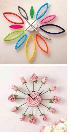 Make a DIY polymer clock and move beyond the concept of a flat clock face. This colorful clock and floral clock are just a couple of examples, as seen on the Polymer Arts Blog, www.thepolymerarts.com