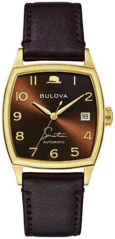 Bulova Unveils Frank Sinatra Collection: Four New Designs On 10 New Watches | WatchTime - USA's No.1 Watch Magazine Men's Watches, Cool Watches, Watches For Men, 3 O Clock, Black Accents, One Design, Black And Brown, Vintage Inspired, Magazine