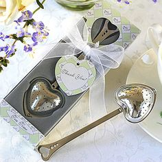 TeaTime Heart Tea Infuser Favor in Teatime Gift Box cheaper and $5.99 shipping