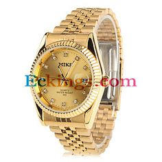 578ebd6e98d Couple s Quartz Analog Diamond Dial Steel Band Wrist Watch (1-Pair