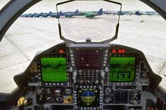 cockpit - Fourth-generation jet fighter - Wikipedia, the free encyclopedia Fighter Aircraft, Fighter Jets, Flight Deck, High Flight, War Machine, Military Aircraft, Air Force, Eagle, Planes