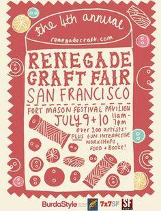 renegade craft fair, poster
