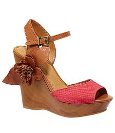 GB Gianni Bini Hot-Shot Platform Wedge Sandals | Dillards.com. This just screams Kristin buy me!!