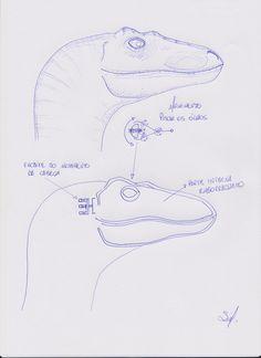 Draw Dinosaurs Fan-made Velociraptor Puppet Suit Brings Dinosaurs to Life in Brazil Dinosaur Sketch, Dinosaur Drawing, Dinosaur Head, Character Art, Character Design, Dinosaur Costume, Animal Drawings, Drawing Animals, Unusual Art