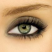 Gray Smokey Eye...less harsh than black! Pretty.