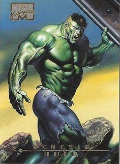 Hulk Genesis 1996 Marvel Masterpieces Card  # 97  NM/M Boris Vallejo