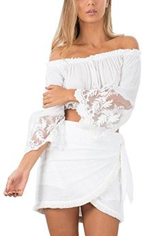 New Trending Crop Tops: Relipop Women's Sexy Lace Off Shoulder Crop Top Long Sleeve Tops (Large, White). Special Offer: $9.99 amazon.com Dress up myself,not for anyone!—-Relipop ————————————————————————– Relipop – Happily providing...