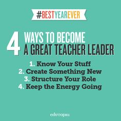 A look at what 21st century teacher leadership involves and how it breaks down into four simple but essential steps for starting a new school year.