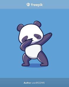 Cute panda dabbing cartoon illustration | Premium Vector #Freepik #vector