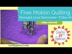 Free Motion Quilting Tutorial Series- Video #4: Practice designs for Straight Lines - YouTube