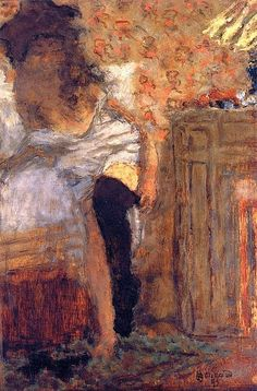 Woman Putting on Her Stockings. Pierre Bonnard