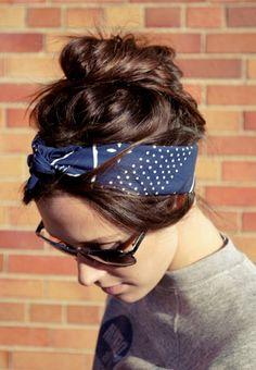 ideen zu bandana binden sportlicher look mit bandana