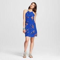 Women's Scallop High-neck Shift Dress - Xhilaration™ (Juniors') : Target