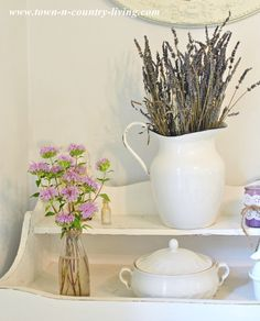 French Lavender and Bees Balm - Town and Country Living