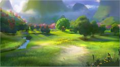 Neverland Color Key - Nathan Fowkes Art