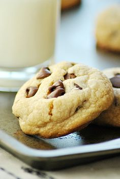 These chocolate chip cookies have a toffee-like flavor that comes from browning the butter. So good!