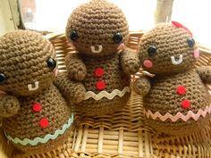 Crochet Gingerbread Men