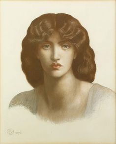 Dante Gabriel Rossetti - Study of Jane Morris for 'Mnemosyne' 1876 Pastel on Paper, © Private collection c/o Christie's Images Ltd., 2010 Part of the UK exclusive 'Poetry of Drawing' exhibition at Birmingham Museum and Art Gallery Dante Gabriel Rossetti, Pre Raphaelite Brotherhood, Birmingham Museum, John Everett Millais, Museum Art Gallery, Portraits, Victorian Art, Art For Art Sake, Old World