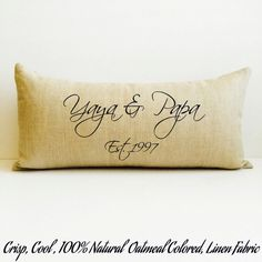 grandparent gift, nana gift, nana and papa, grandparent pillow, gift for grandparent, grandparent, grandma and grandpa, christmas gift by LoveYouMoreBoutique on Etsy