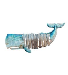 Whale Driftwood Wall Sculpture
