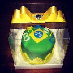 Mini bolo Brasil
